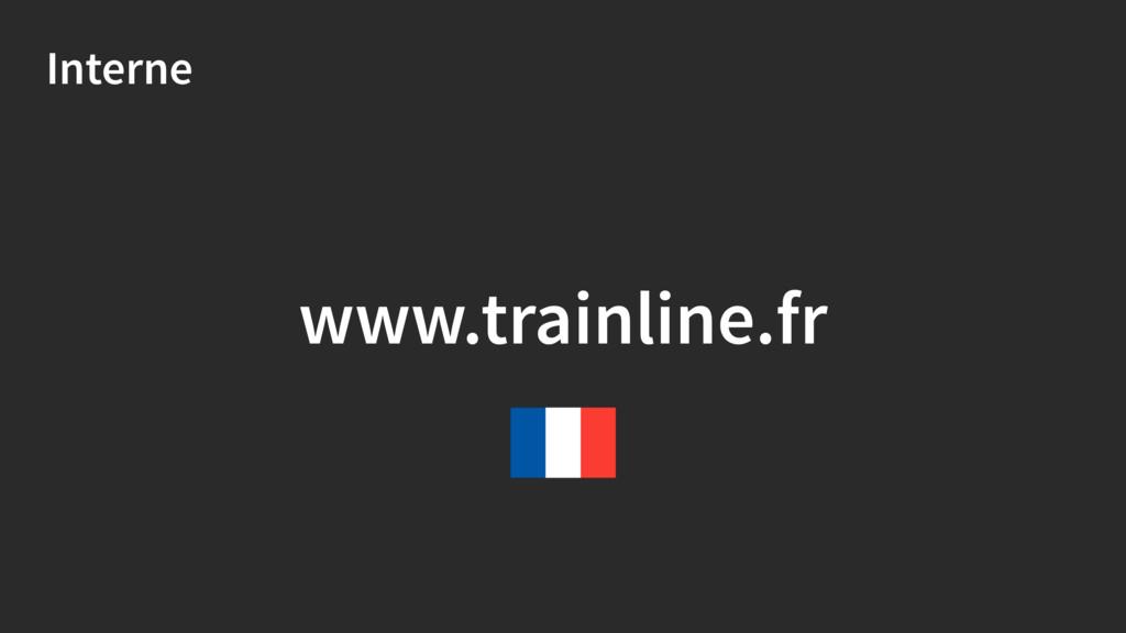 Interne www.trainline.fr