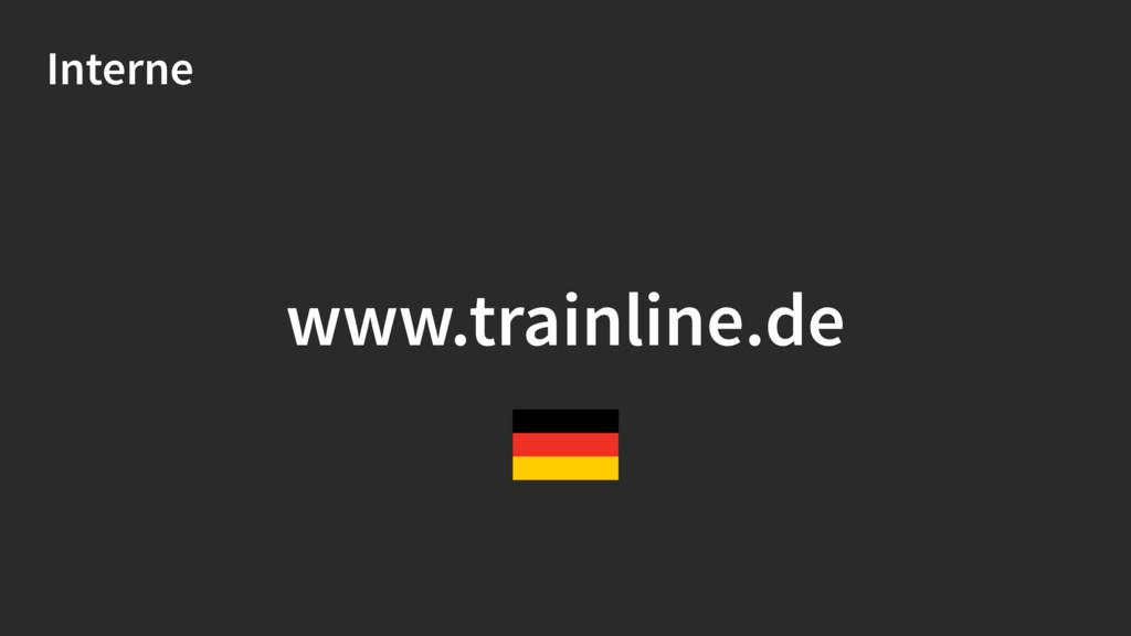 Interne www.trainline.de