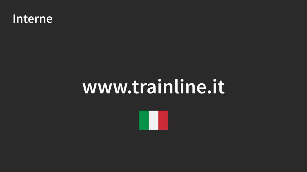 Interne www.trainline.it