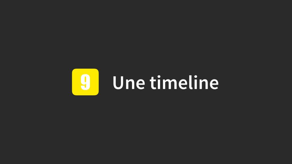 Une timeline 9