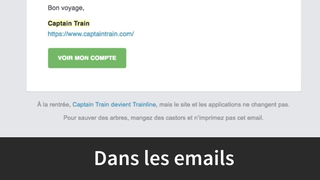 Dans les emails