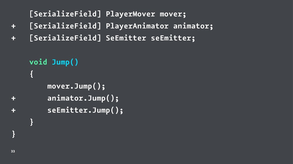 [SerializeField] PlayerMover mover; + [Serializ...