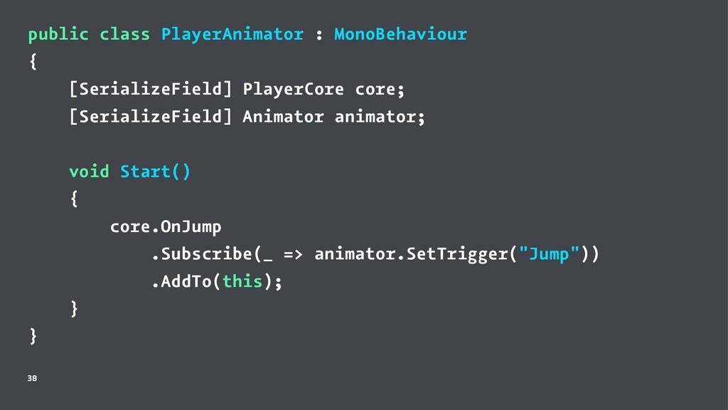 public class PlayerAnimator : MonoBehaviour { [...