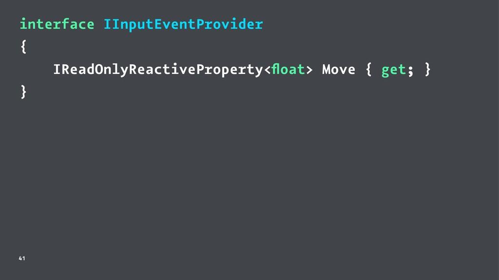 interface IInputEventProvider { IReadOnlyReacti...