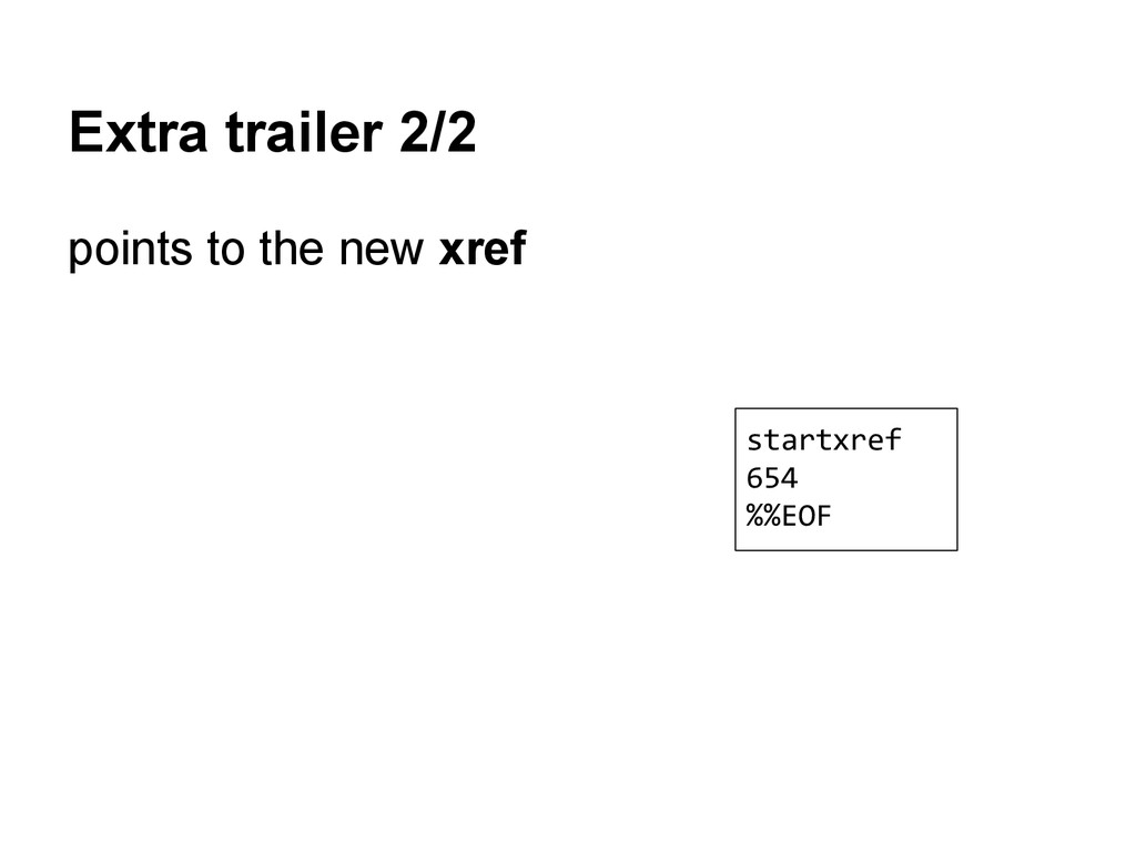 Extra trailer 2/2 points to the new xref startx...