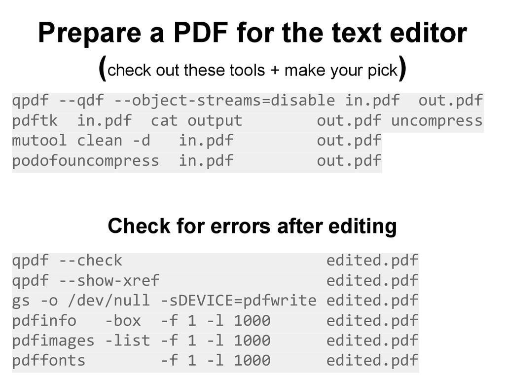 Prepare a PDF for the text editor (check out th...