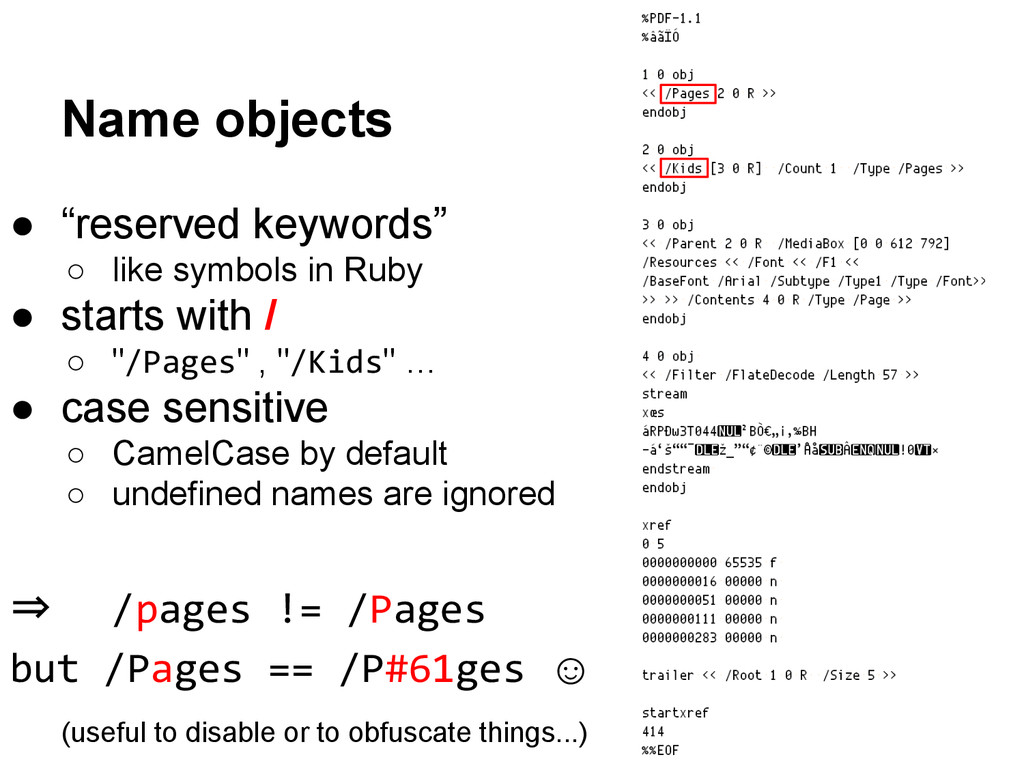 "● ""reserved keywords"" ○ like symbols in Ruby ● ..."