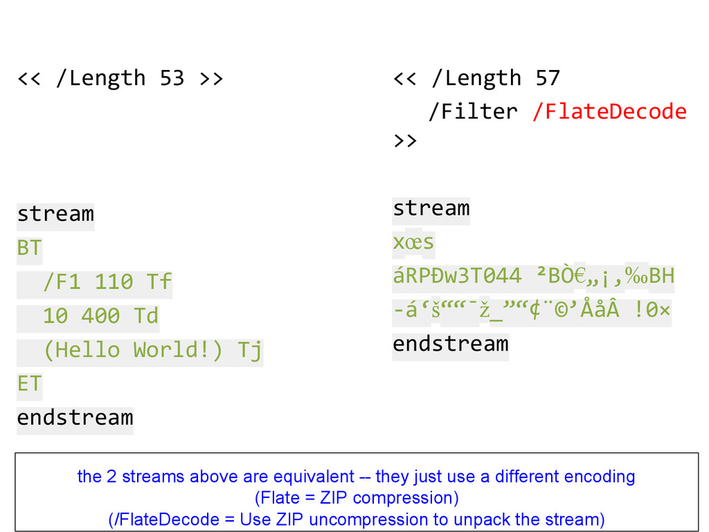 << /Length 53 >> stream BT /F1 110 Tf 10 400 Td...