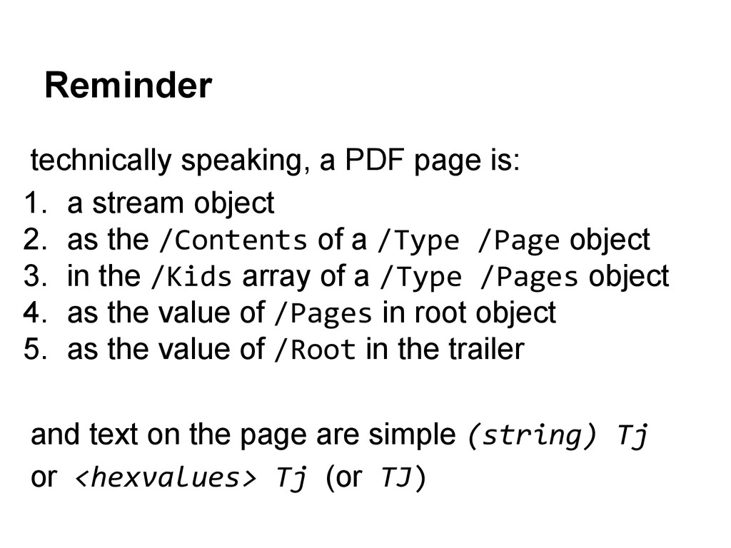 Reminder technically speaking, a PDF page is: 1...