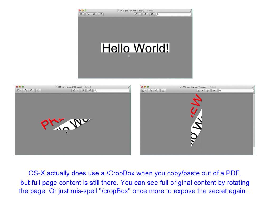 OS-X actually does use a /CropBox when you copy...