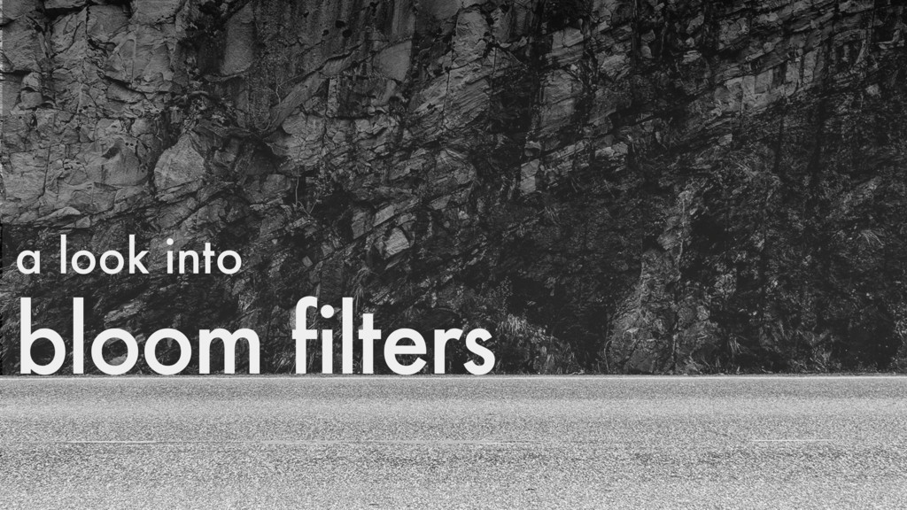 bloom filters a look into