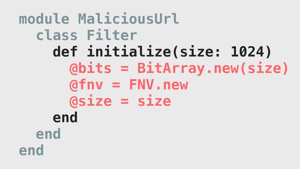 module MaliciousUrl class Filter def initialize...
