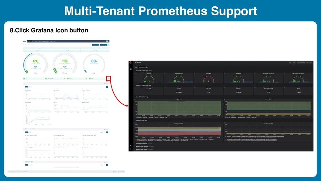 Multi-Tenant Prometheus Support 8.Click Grafana...