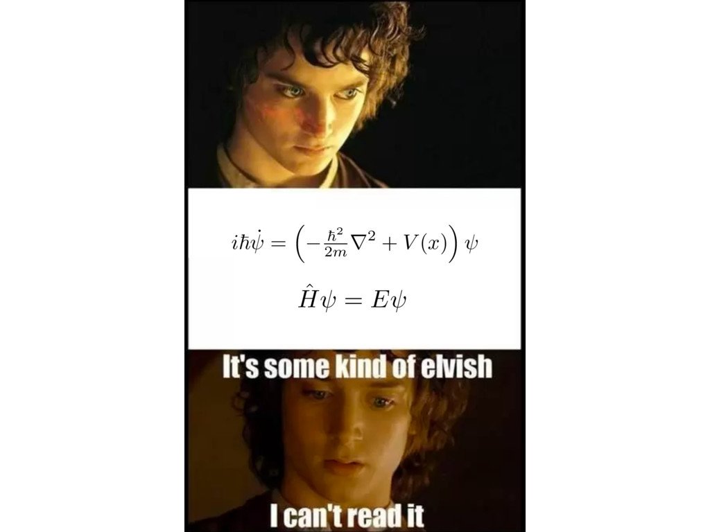 i ~ ˙ = ⇣ ~2 2m r2 + V ( x ) ⌘ ˆ H = E