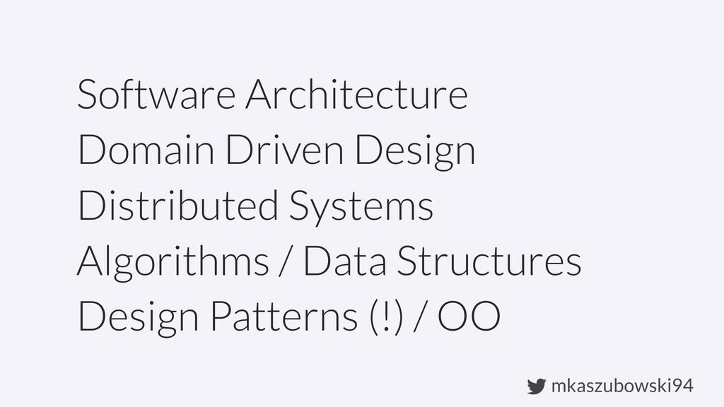 mkaszubowski94 Software Architecture Domain Dri...