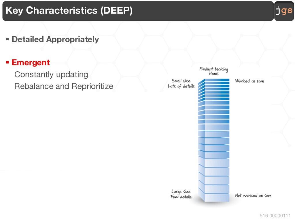 jgs 516 00000111 Key Characteristics (DEEP) § D...