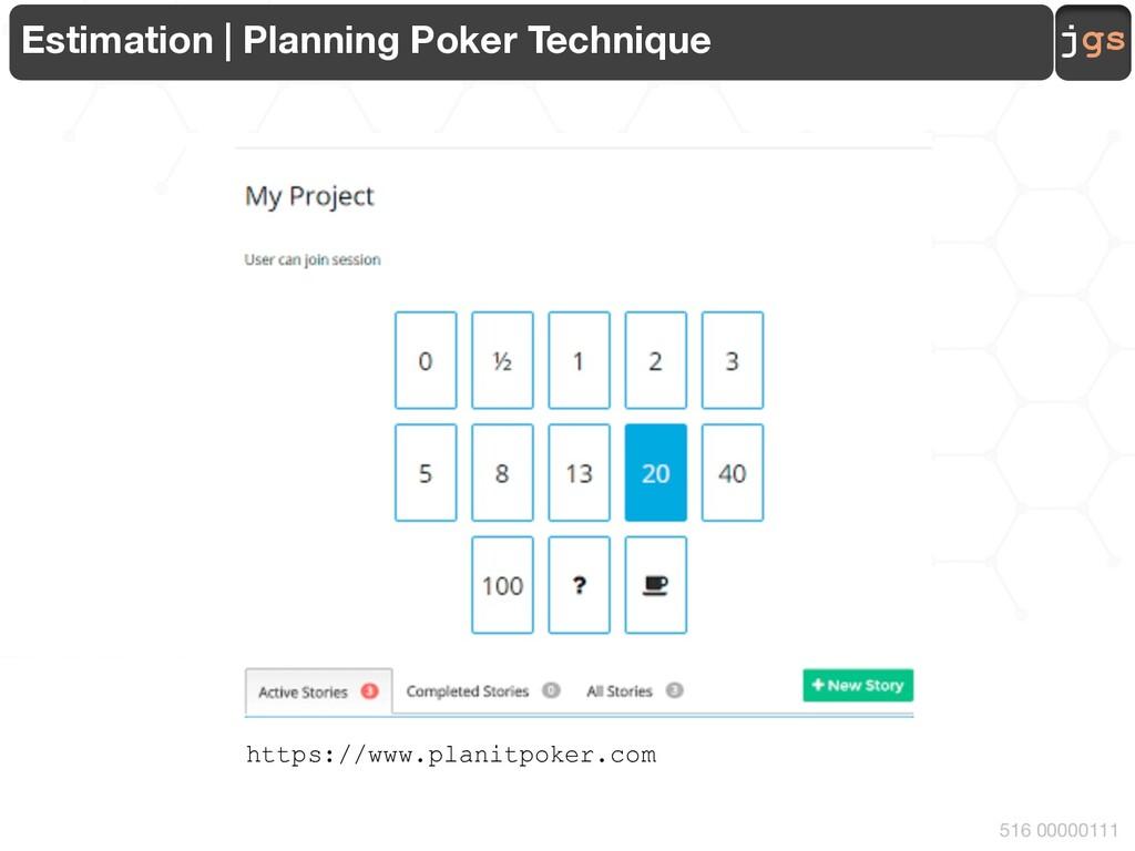 jgs 516 00000111 Estimation | Planning Poker Te...