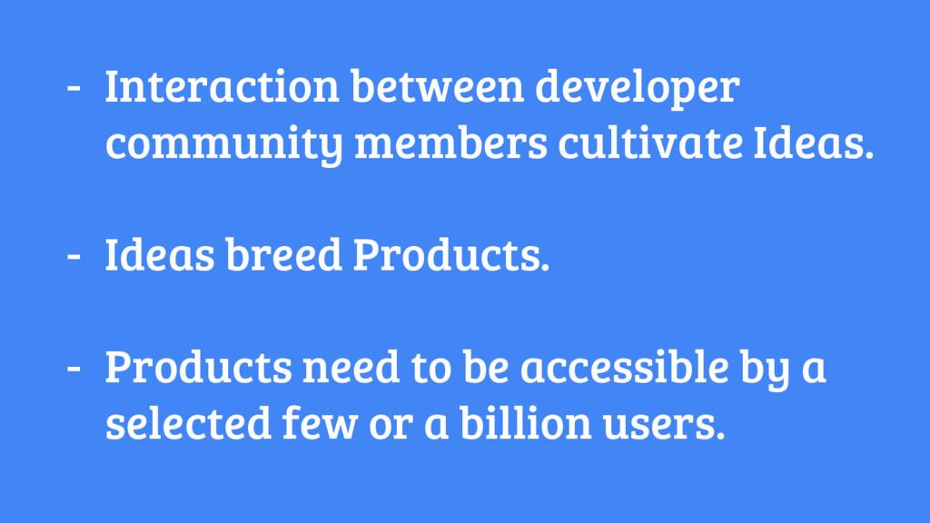 - Interaction between developer community membe...