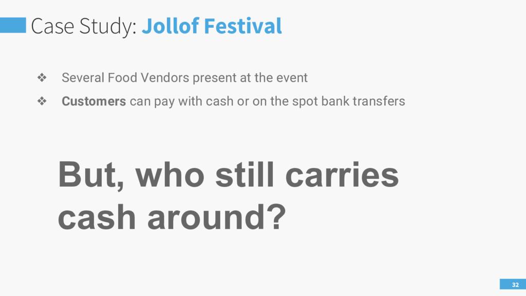 Case Study: Jollof Festival 32 ❖ Several Food V...
