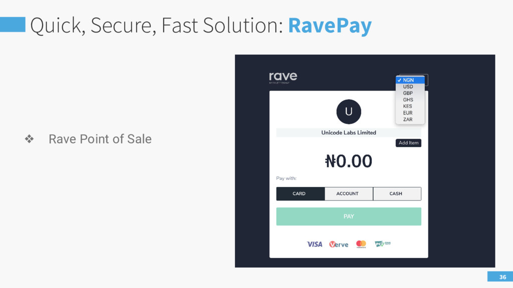 Quick, Secure, Fast Solution: RavePay 36 ❖ Rave...