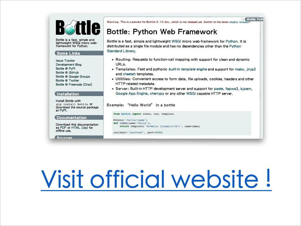 Visit official website !
