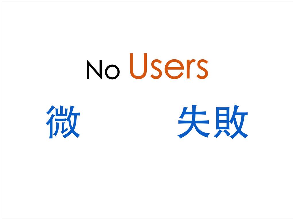 No Users 微 失敗