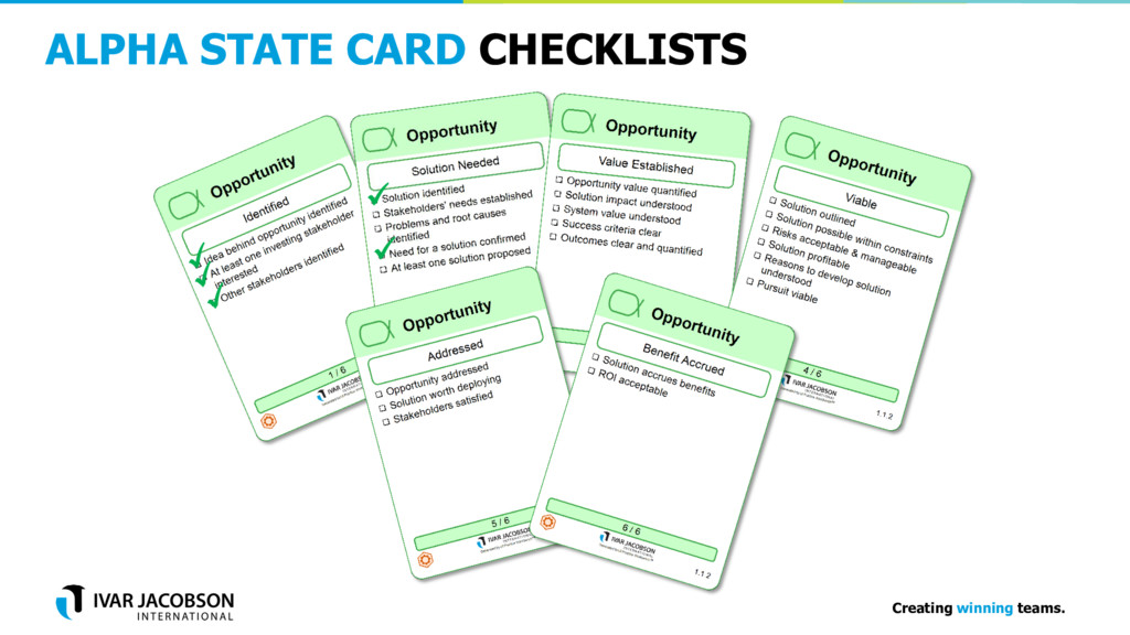 Creating winning teams. ALPHA STATE CARD CHECKL...