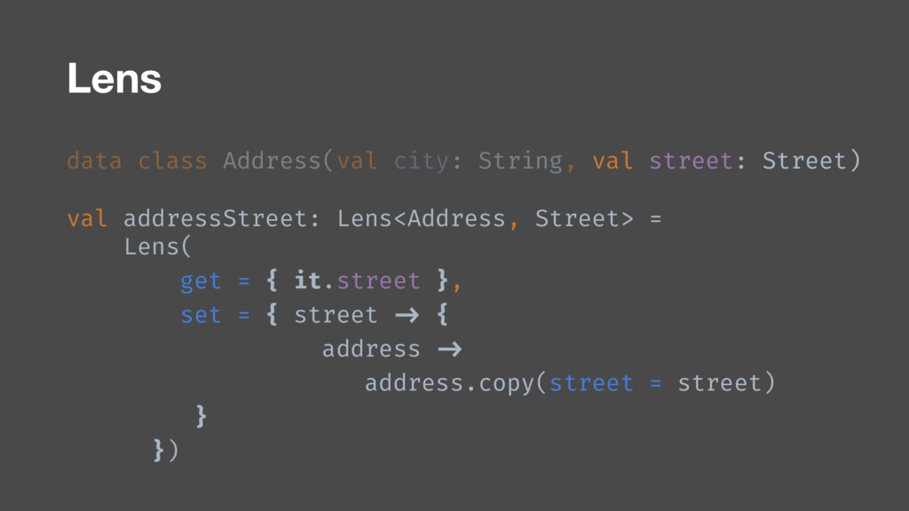 data class Address(val city: String, val street...
