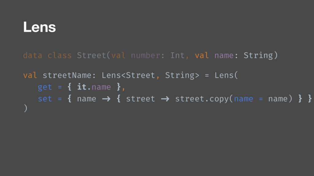 data class Street(val number: Int, val name: St...
