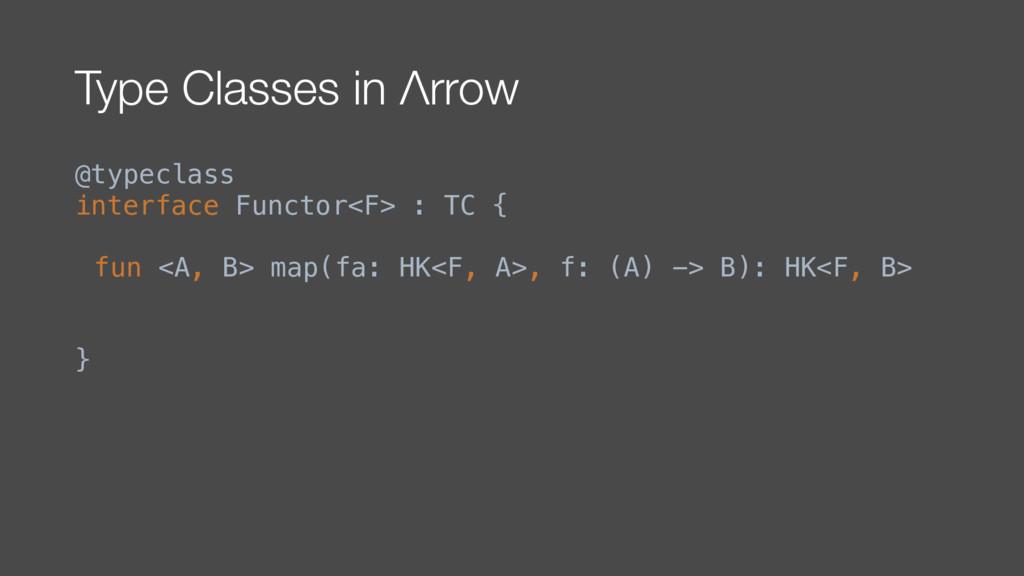 Type Classes in Λrrow @typeclass interface Func...