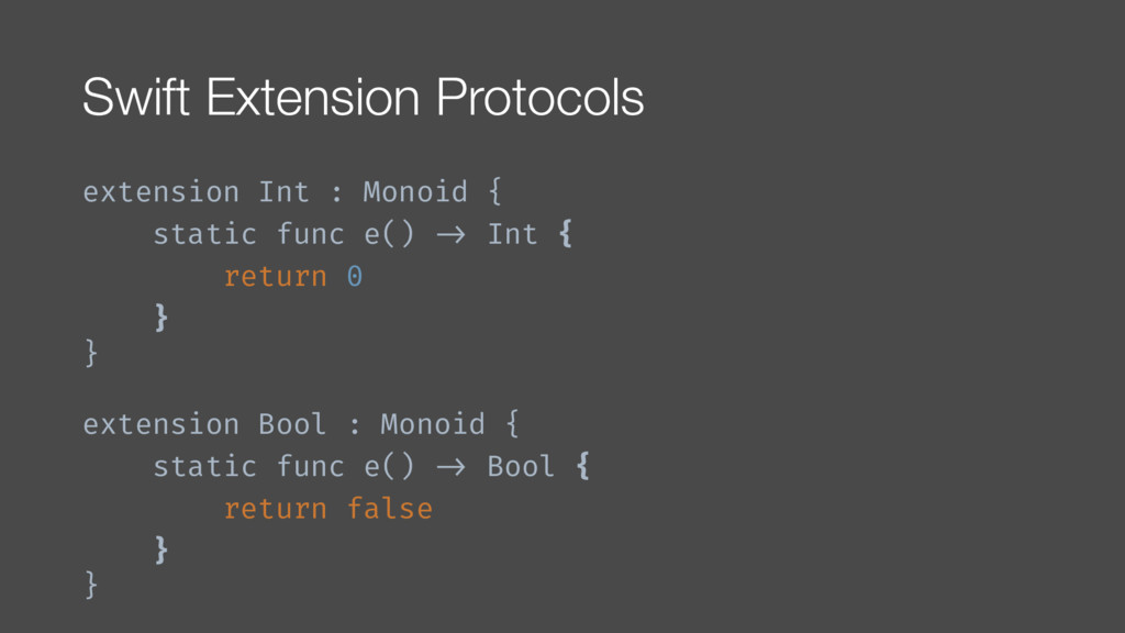 Swift Extension Protocols extension Int : Monoi...