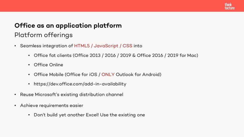 Platform offerings • Seamless integration of HT...