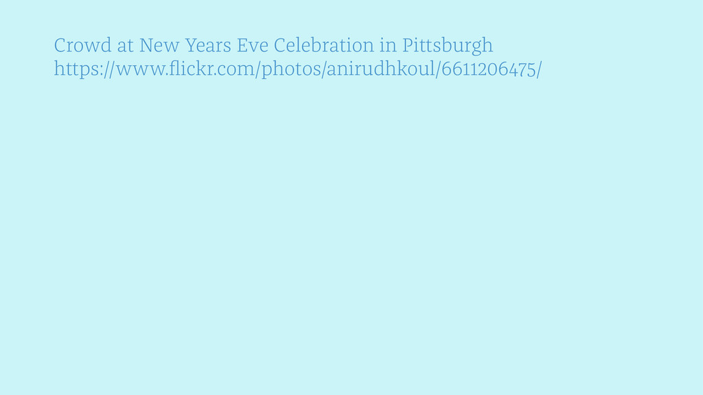 Crowd at New Years Eve Celebration in Pittsburg...