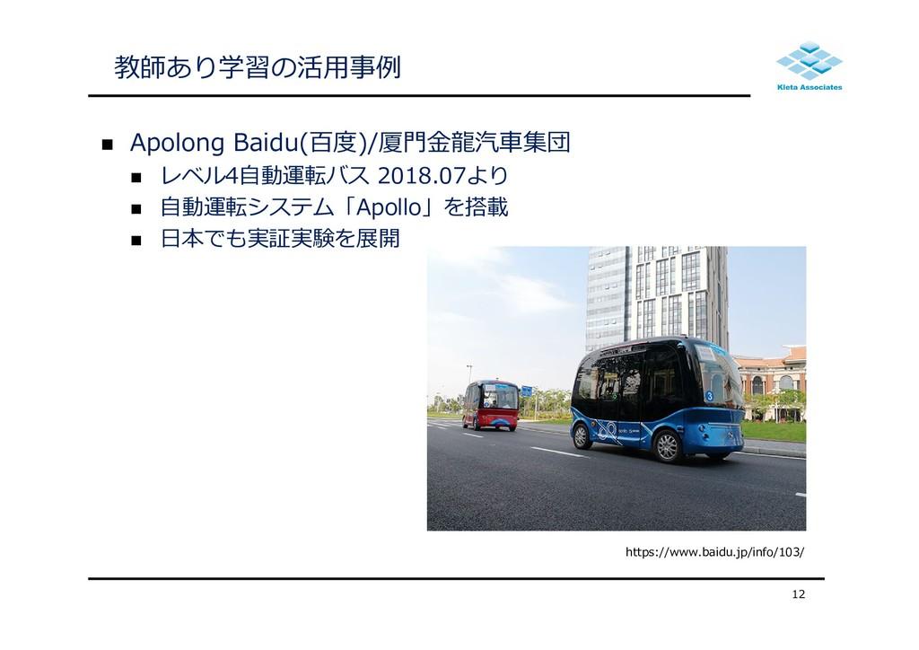  Apolong Baidu(百度)/厦⾨⾦⿓汽⾞集団  レベル4⾃動運転バス 2018....