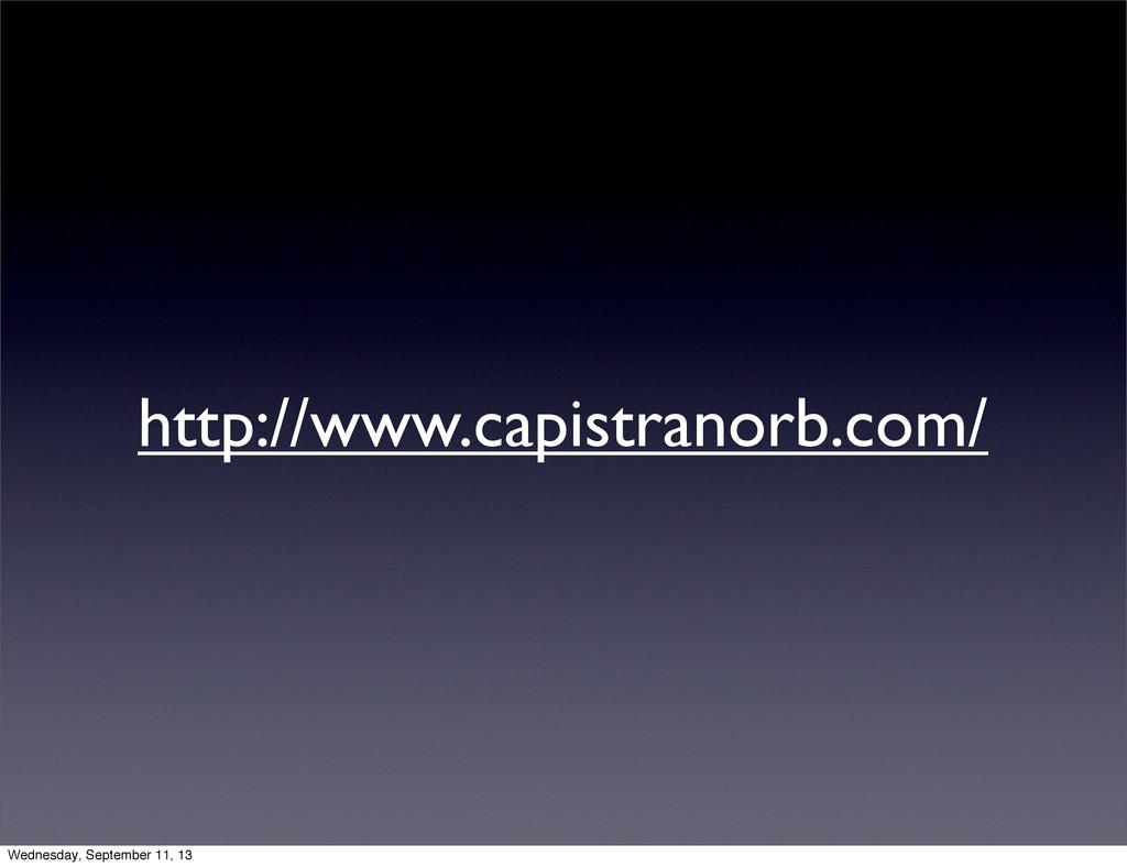 http://www.capistranorb.com/ Wednesday, Septemb...