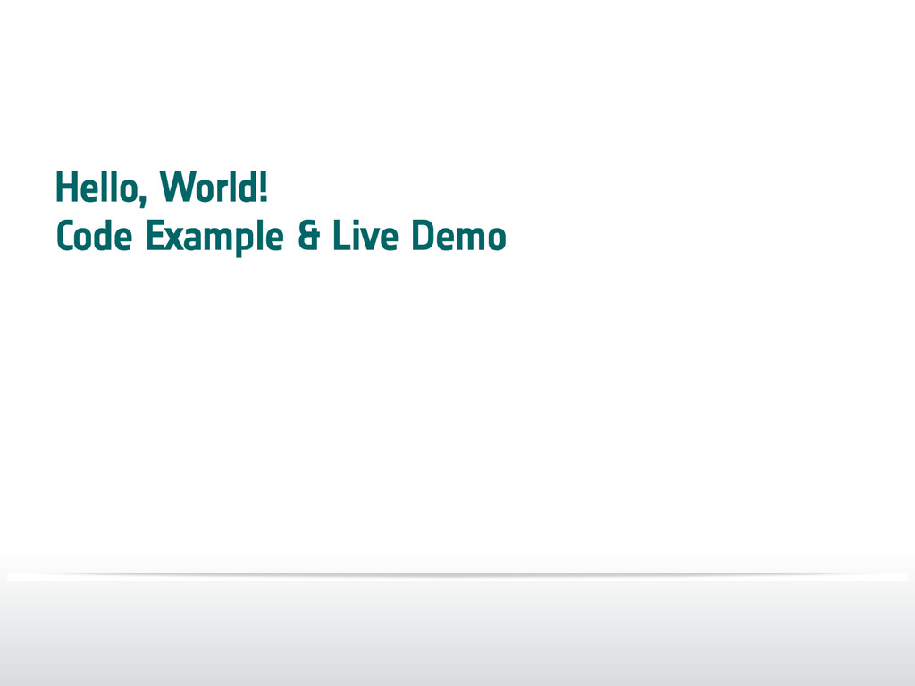 Hello, World! Code Example & Live Demo