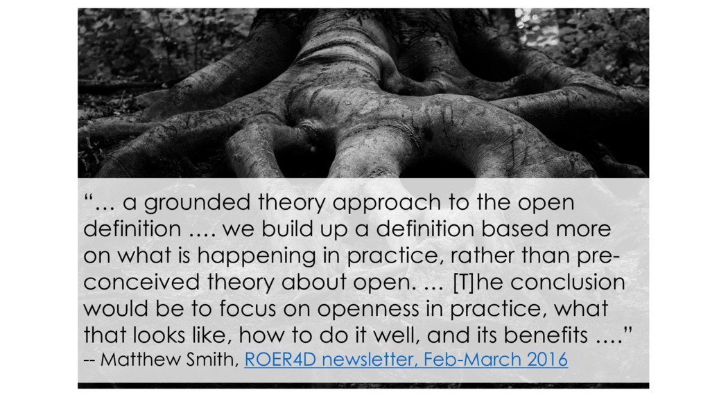 """""""… a grounded theory approach to the open defin..."""