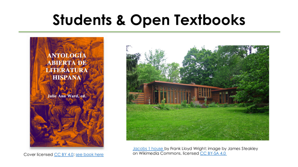Students & Open Textbooks Cover licensed CC BY ...
