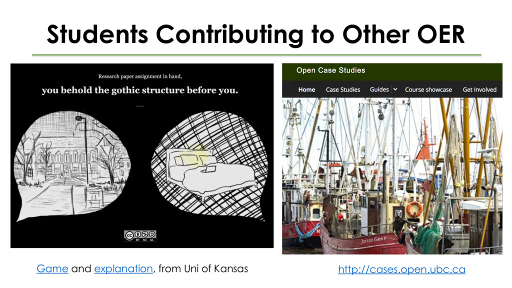 Students Contributing to Other OER Game and exp...