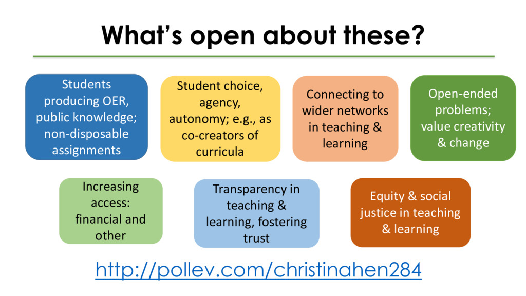 What's open about these? Students producing OER...