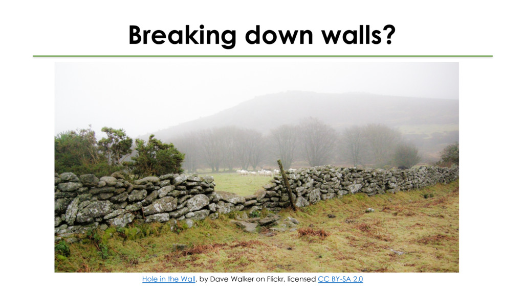Breaking down walls? Hole in the Wall, by Dave ...