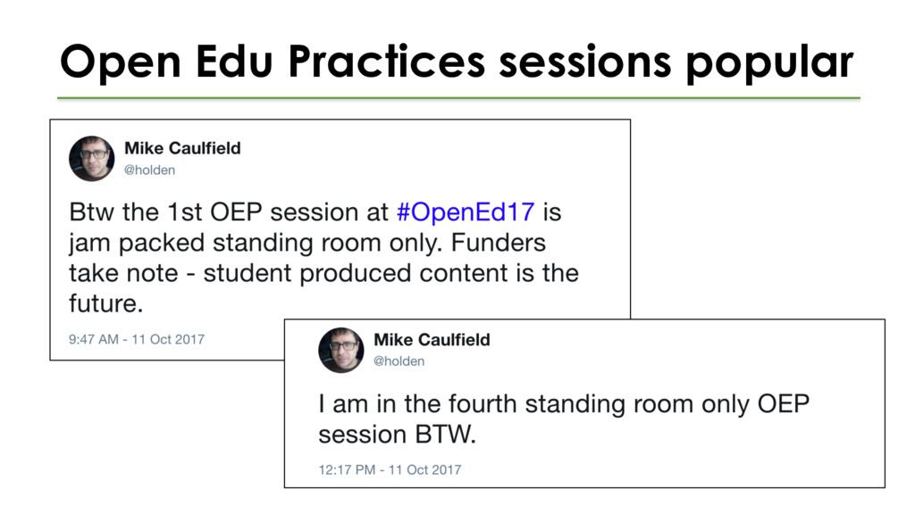 Open Edu Practices sessions popular