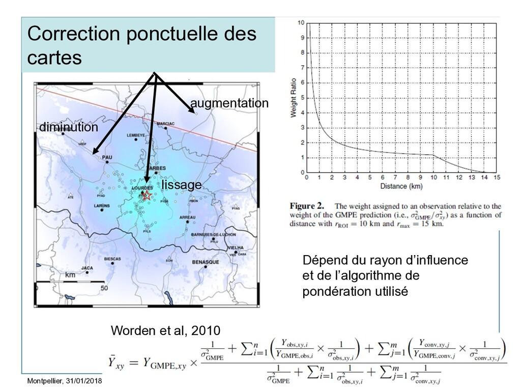 8 Correction ponctuelle des cartes Montpellier,...