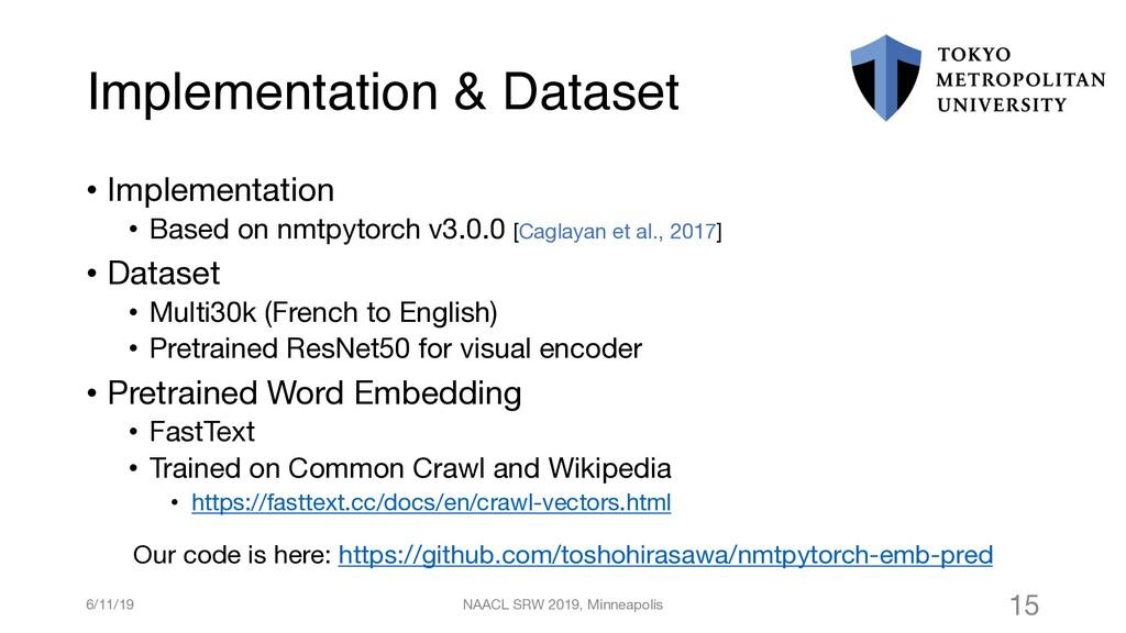 Implementation & Dataset • Implementation • Bas...