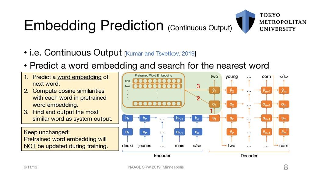 Embedding Prediction (Continuous Output) 6/11/1...