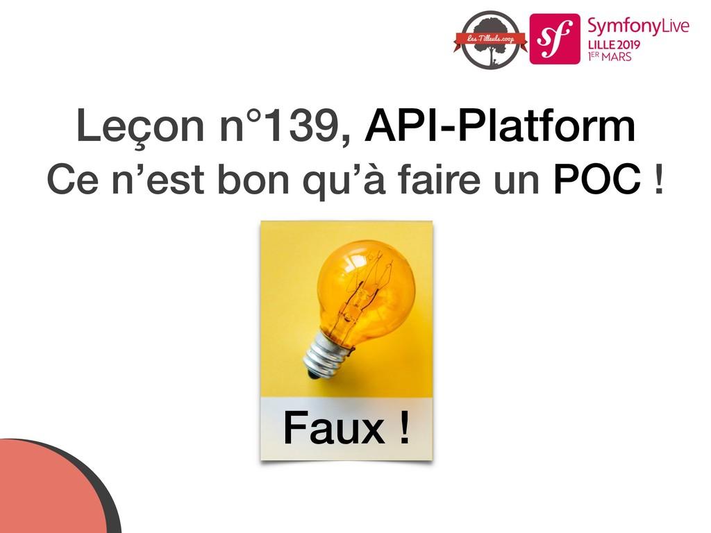 Leçon n°139, API-Platform Ce n'est bon qu'à fai...