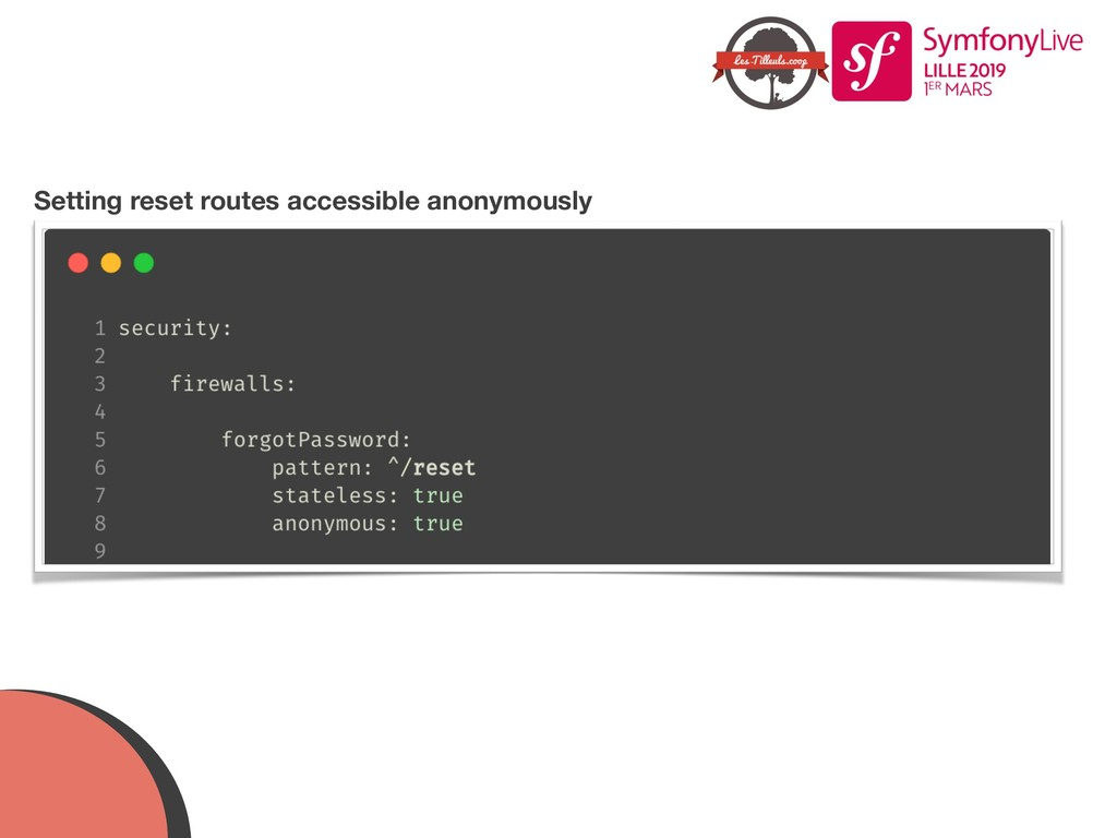 Setting reset routes accessible anonymously