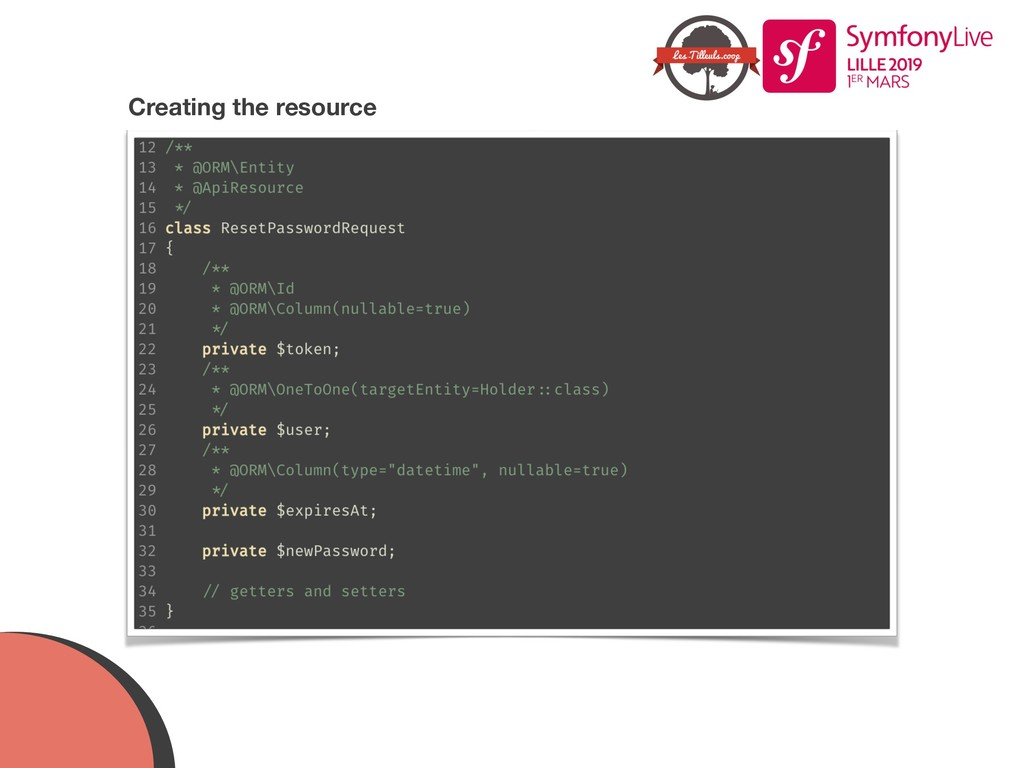 Creating the resource