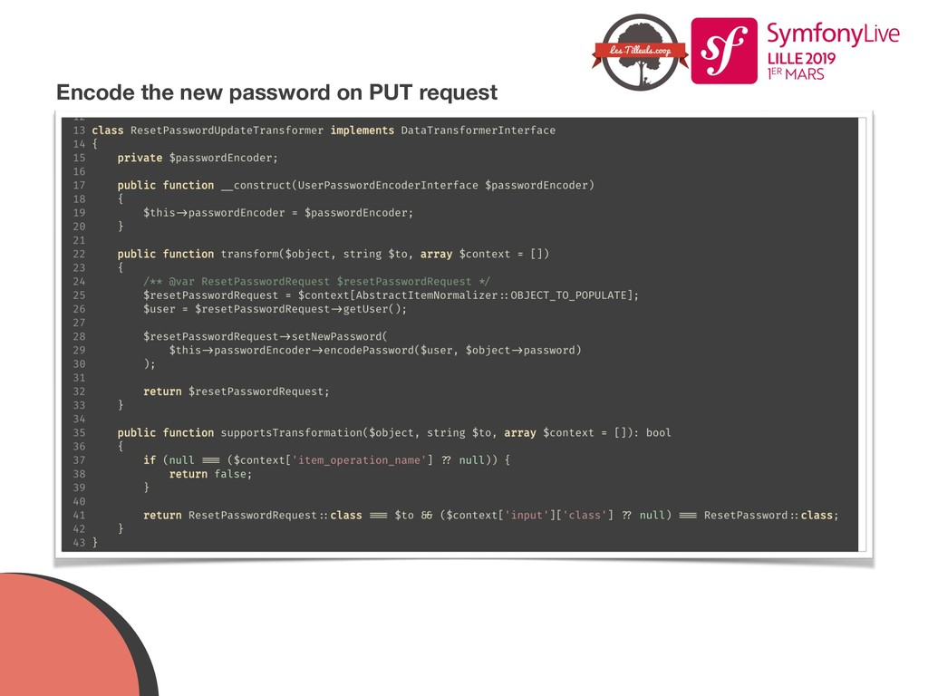 Encode the new password on PUT request