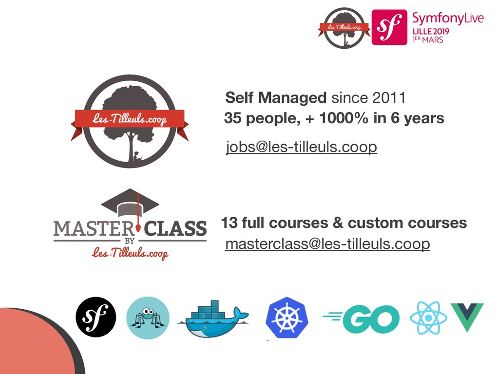 Self Managed since 2011 35 people, + 1000% in 6...